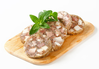 Sliced head cheese