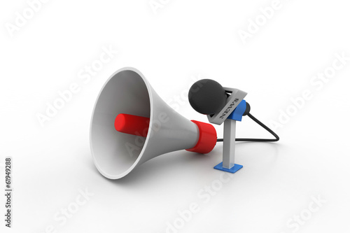 Microphone with loudspeaker