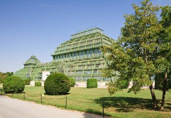Palm pavilion in the park of Schonbrunn, Vienna, Austria