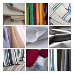 Collage sur les textiles et tissus