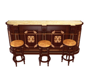 classic style bar counter