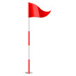 Red golf flag - 61951216
