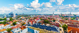 Aerial panorama of Tallinn, Estonia