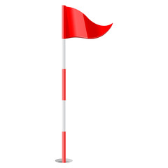 Red golf flag