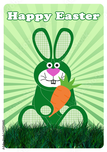 Easter Bunny with carrot (Osterhase mit Mohrrübe)