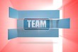 Composite image of team banner on abstract screen
