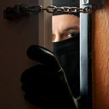 Einbrecher bricht in Haus ein
