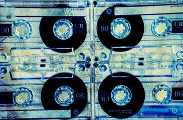 grunge blank cassettes