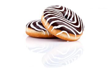 Chocolate Zebra Donuts