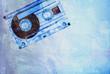 cassette blue texture
