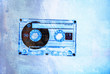 grunge blue cassette