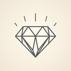 Vector illustration of diamond