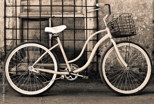 Vintage bicycle with basket