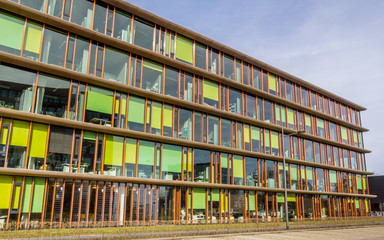Colorful modern office building