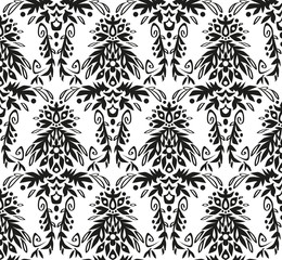 black and white vintage wallpaper