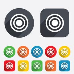 Target aim sign icon. Darts board symbol.