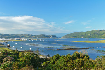 Beautiful view of Knysna town, South Africa