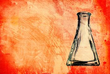 grunge flask