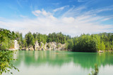 Lake in Adrspach-Teplice Rocks, Czech Republic