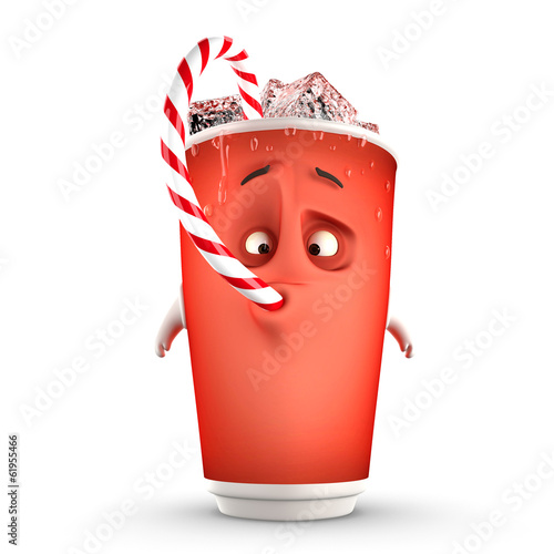 funny drinking cup on a white background