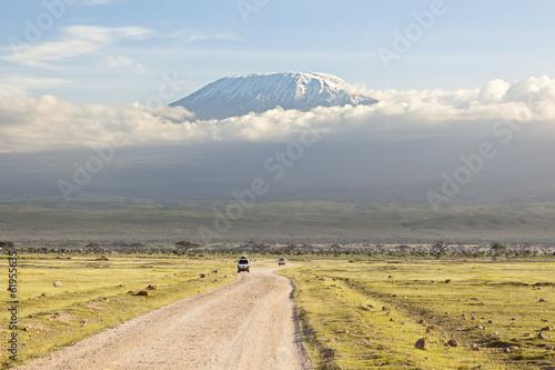 Fotobehang Vulkaan Kilimanjaro with snow cap