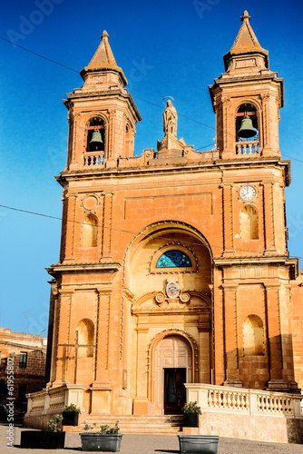 Our Lady of Pompej church at Marsaxlokk. Malta