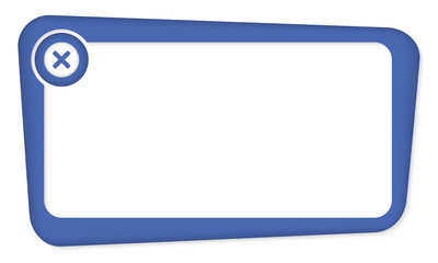 blue vector box for insertion text with ban sign