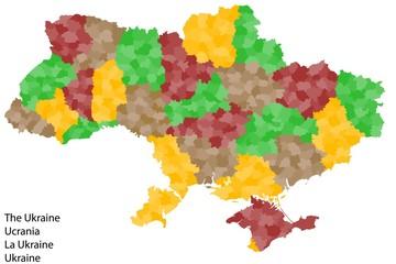 Exakte Landkarte von der Ukraine