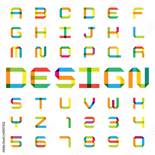Colorful paper alphabet