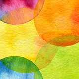 Fototapety Abstract watercolor circle painted background