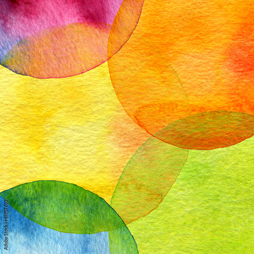 Aluminium Geschilderde Achtergrond Abstract watercolor circle painted background
