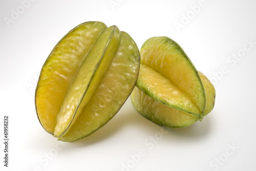 Star fruit isolated on white