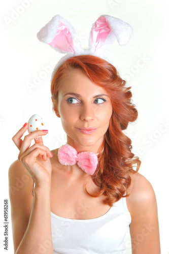 woman holding egg