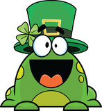 Cartoon Frog Wearing St. Patrick's Day Hat