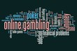 Internet gambling - word cloud illustration