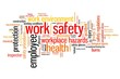 Safety at work - word cloud illustration