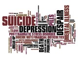 Suicide - word cloud illustration
