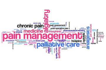 Pain management - word cloud illustration