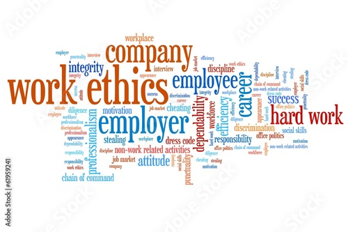 Corporate ethics - word cloud illustration
