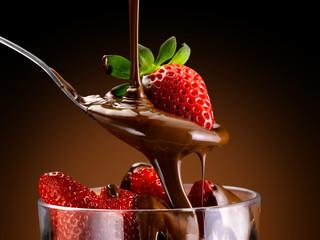 crema di cioccolato e fragole