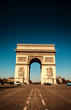 Paris, Famous Arc de Triumph with flag of France