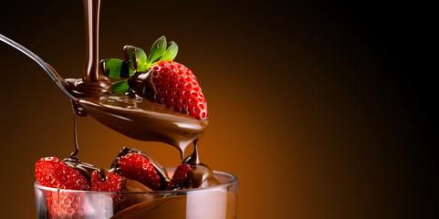 fragole e cioccolato