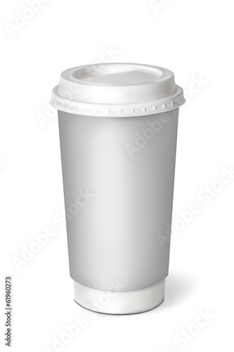 Coffee cup. Isolated on white.