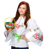 Young woman in ukrainian national cloth