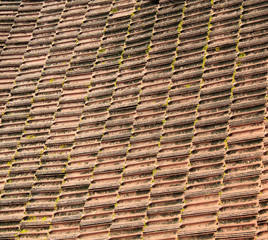Ancient roof tiles detail