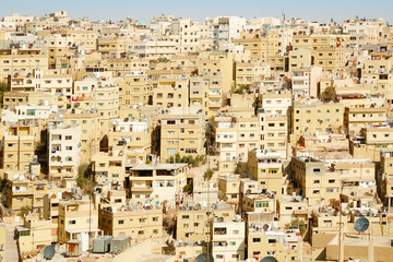 Middle east buildings and houses in Amman, Jordan