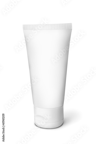White tube for cream. Isolated on white