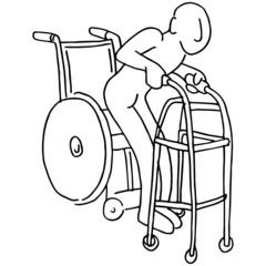 Wheelchair to Walker