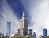 Warsaw (Warszawa) city modern downtown, Poland.