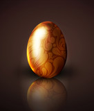 vector golden easter egg with ornament